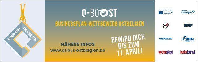 Q-BoOST – Businessplanwettbewerb Ostbelgien. Kreative Köpfe aufgepasst!